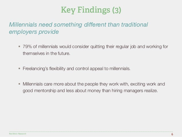 """Millennials need something different than traditional  employers provide""""  § 79% of millennials would consider quitting t..."""