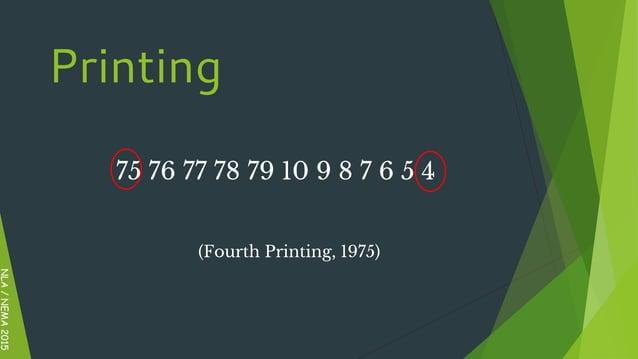 75 76 77 78 79 10 9 8 7 6 5 4 (Fourth Printing, 1975) NLA/NEMA2015 Printing