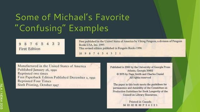 "NLA/NEMA2015 Some of Michael's Favorite ""Confusing"" Examples"