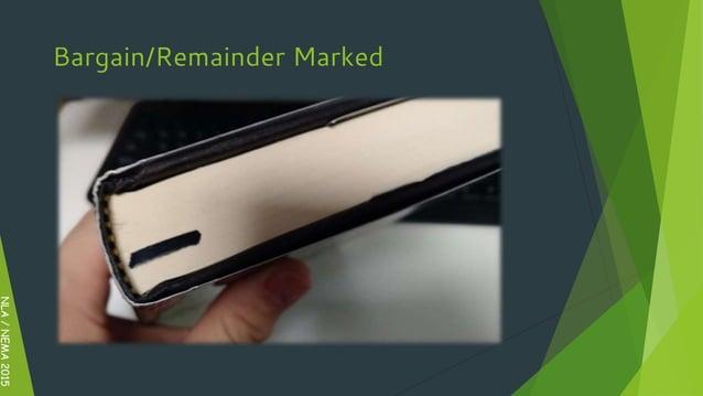 Bargain/Remainder Marked NLA/NEMA2015