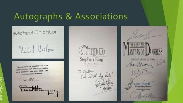 NLA/NEMA2015 Autographs & Associations