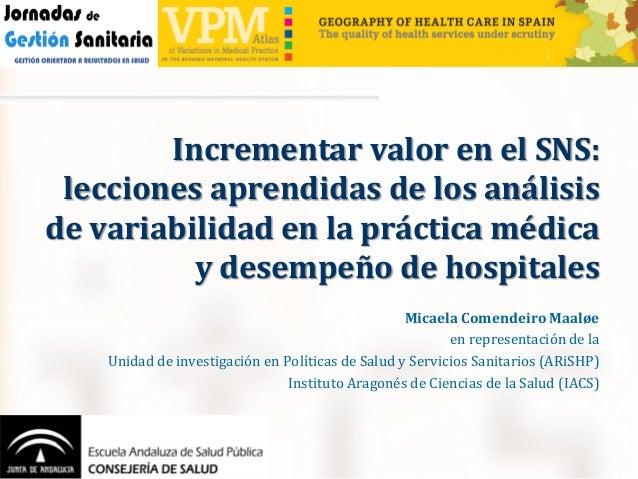 Micaela Comendeiro Maaløe en representación de la Unidad de investigación en Políticas de Salud y Servicios Sanitarios (AR...