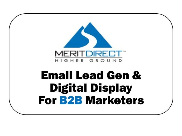 Email Lead Gen & Digital Display For B2B Marketers