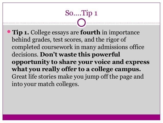 college application essays