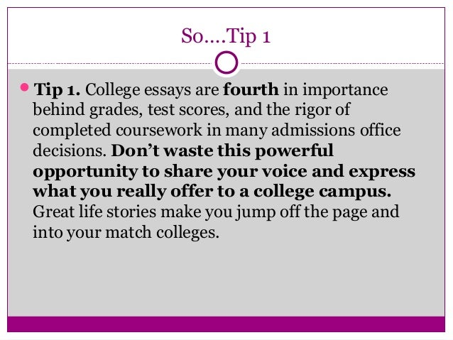 8 - Good College Essays Examples
