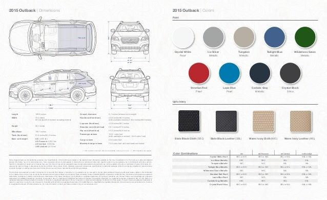Subaru Outback Dimensions >> 2015 Subaru Outback Brochure Neil Huffman Subaru
