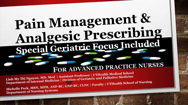 Let's Discuss… Benefits & side effects of common analgesics Impact of patient-related factors on drug selection & dose bas...