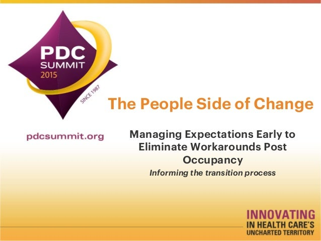 The People Side of Change Managing Expectations Early to Eliminate Workarounds Post Occupancy Informing the transition pro...