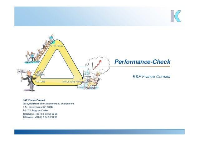 K&P France Conseil Performance-Check K&P France Conseil Les spécialistes du management du changement 7 Av. Didier Daurat B...