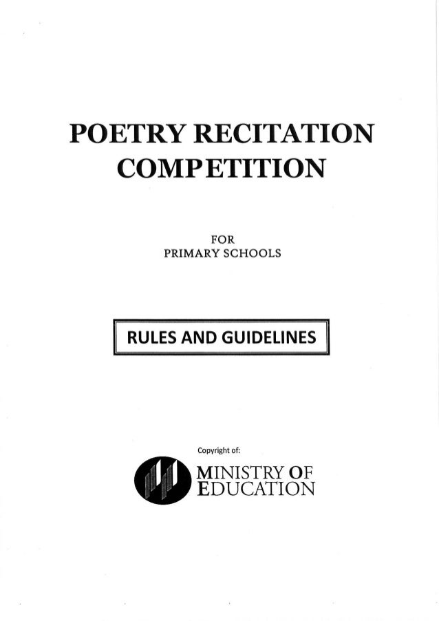 2015 Poetry Recitation Competition Primary