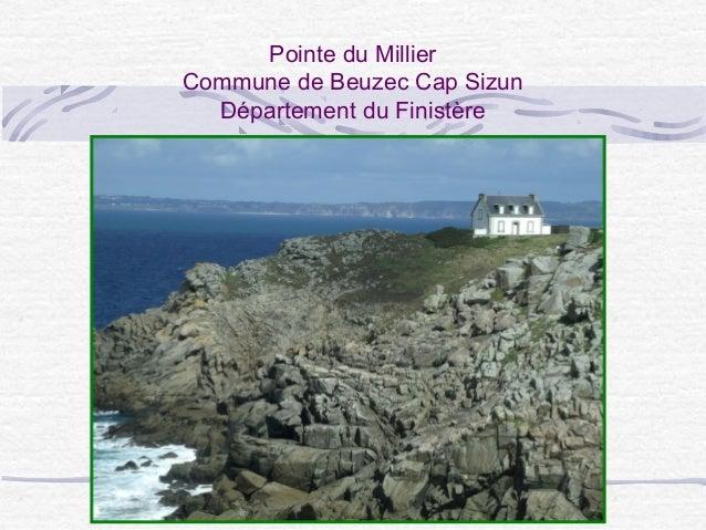Pointe du Millier Commune de Beuzec Cap Sizun Département du Finistère