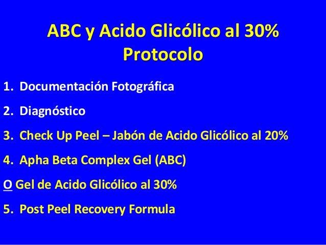 Check Up Peel Jabón de Acido Glicólico al 20% 1. APLICAR EL CHECK UP PEEL SECO EN TODA LA CARA (SIN AGUA). DEJAR EN LA PIE...