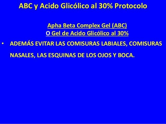 Apha Beta Complex Gel (ABC) O Gel de Acido Glicólico al 30% • USTED DEBE APLICAR EL GEL BAJO LOS OJOS Y LAS CEJAS, PERO NO...