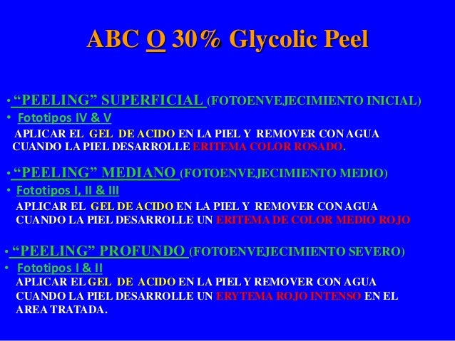 ABC O 30% Glycolic Peel Protocolo POST PEEL RECOVERY FORMULA