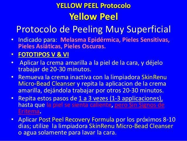 Tratamiento Professional – Yellow Peel Muy Superficial Arrugas Superficiales/Envejecimiento Inicial Melasma Epidermico y F...
