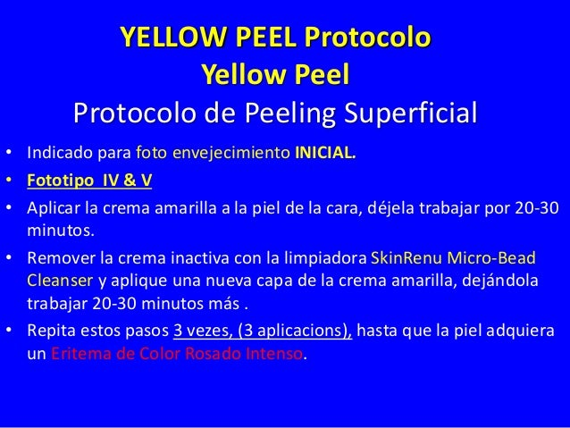 End Point de Peeling Superficial