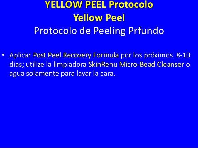 YELLOW PEEL Protocolo POST PEEL RECOVERY FORMULA