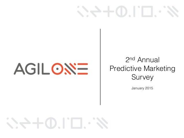 2015 Predictive Marketing Survey