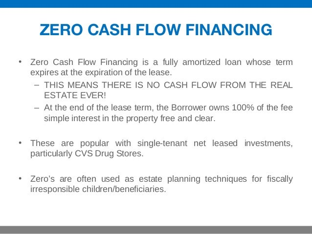 What To Watch Out For With Zero Cash Flow Deals