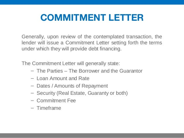 Commitment Letter. Commitment Letter Loan-Commitment-Letter