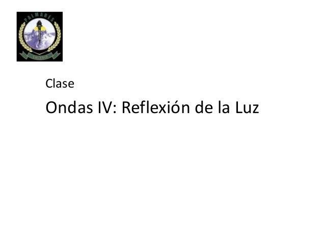 Clase Ondas IV: Reflexión de la Luz