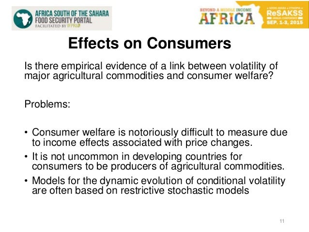 Effects on Consumers 11 Is there empirical evidence of a link between volatility of major agricultural commodities and con...