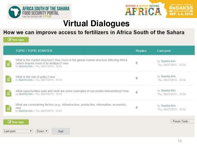 13 Virtual Dialogues