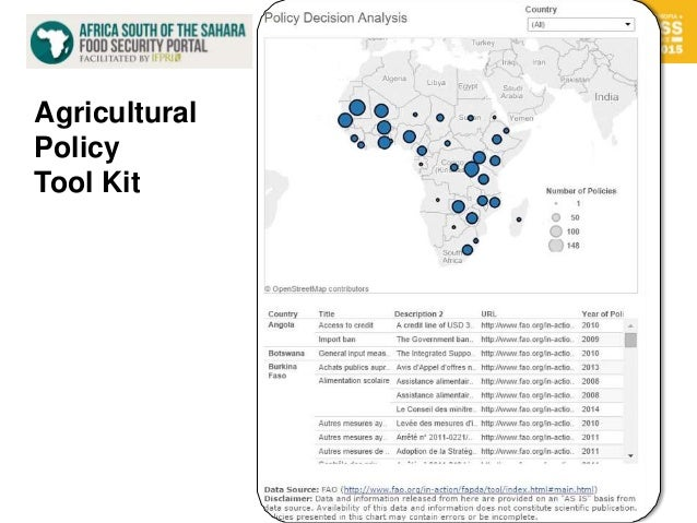 17 Agricultural Policy Tool Kit