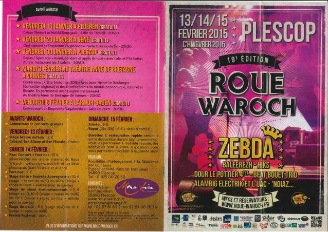 2015 Roue Waroch programme