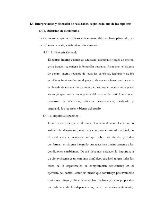 Sistema de control interno y su incidencia en la transparencia de la gestión  de contrataciones en el área de logística y ...