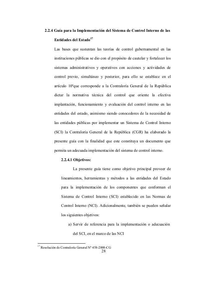 28 2.2.4 Guía para la Implementación del Sistema de Control Interno de las Entidades del Estado 17 Las bases que sustentan...