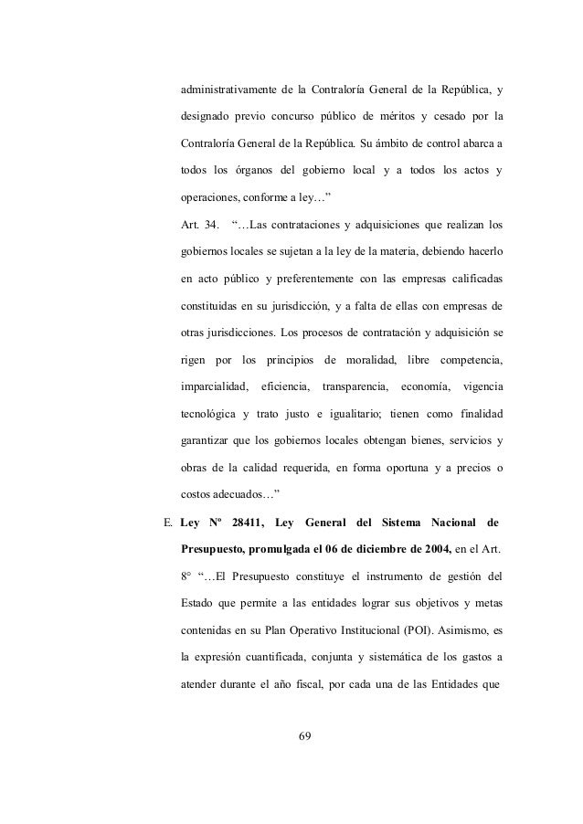 69 administrativamente de la Contraloría General de la República, y designado previo concurso público de méritos y cesado ...