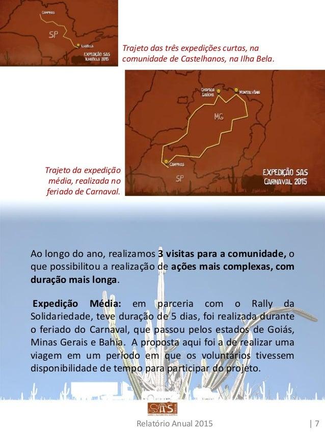 Relatório Anual 2015 | 8 A parceria com a ACOM (Associação de Milagres), no Ceará, durante a Expedição Chapada do Araripe ...
