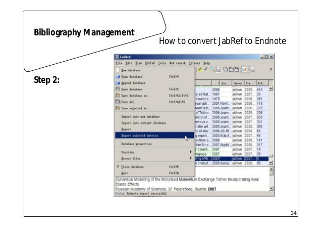 Scientific writing 01 latex how to convert jabref to endnote bibliography management step 1 33 34 ccuart Choice Image