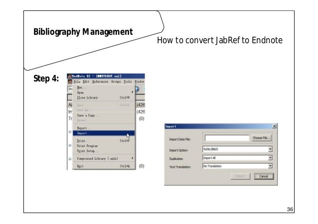 Scientific writing 01 latex how to convert jabref to endnote bibliography management step 3 35 36 ccuart Choice Image