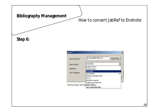Scientific writing 01 latex how to convert jabref to endnote bibliography management step 5 37 38 ccuart Choice Image