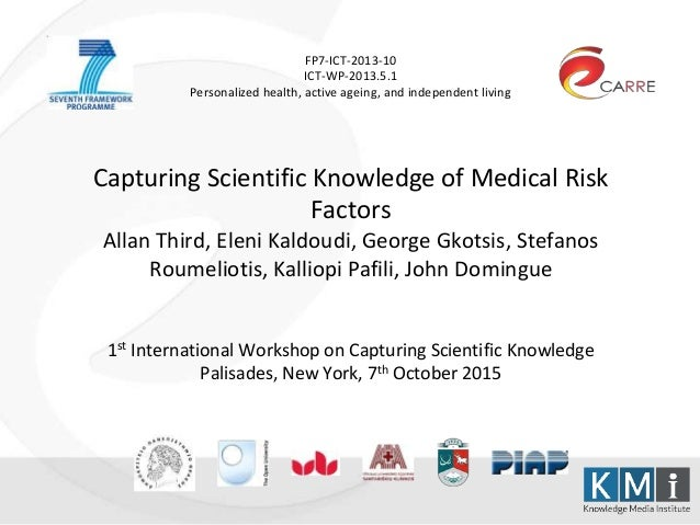 FP7-ICT-2013-10 ICT-WP-2013.5.1 Personalized health, active ageing, and independent living Capturing Scientific Knowledge ...