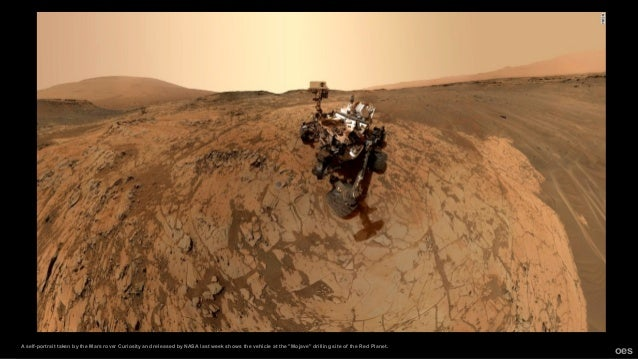 """A self-portrait taken by the Mars rover Curiosity and released by NASA last week shows the vehicle at the """"Mojave"""" drillin..."""