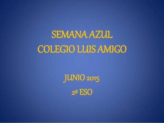 SEMANA AZUL COLEGIO LUIS AMIGO JUNIO 2015 2º ESO