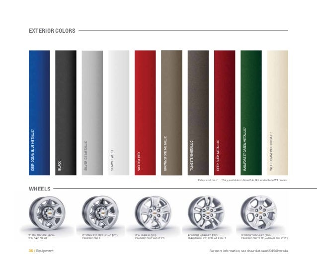 Chevrolet Silverado Exterior Colors | Autos Classic Blog