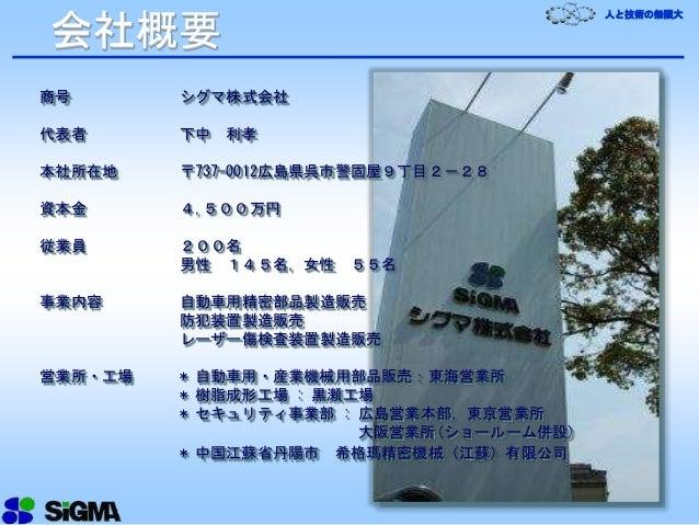 シグマ会社プレゼン2015slideshare用pptx Slide 2