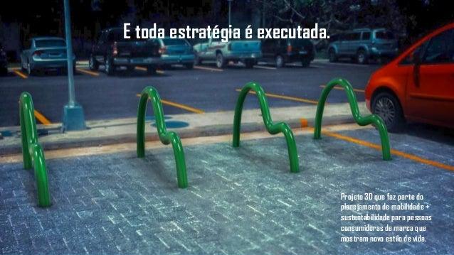 Projeto 3D que faz parte do planejamento de mobilidade + sustentabilidade para pessoas consumidoras de marca que mostram n...