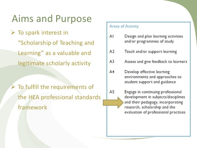 """Aims and Purpose  To spark interest in """"Scholarship of Teaching and Learning"""" as a valuable and legitimate scholarly acti..."""