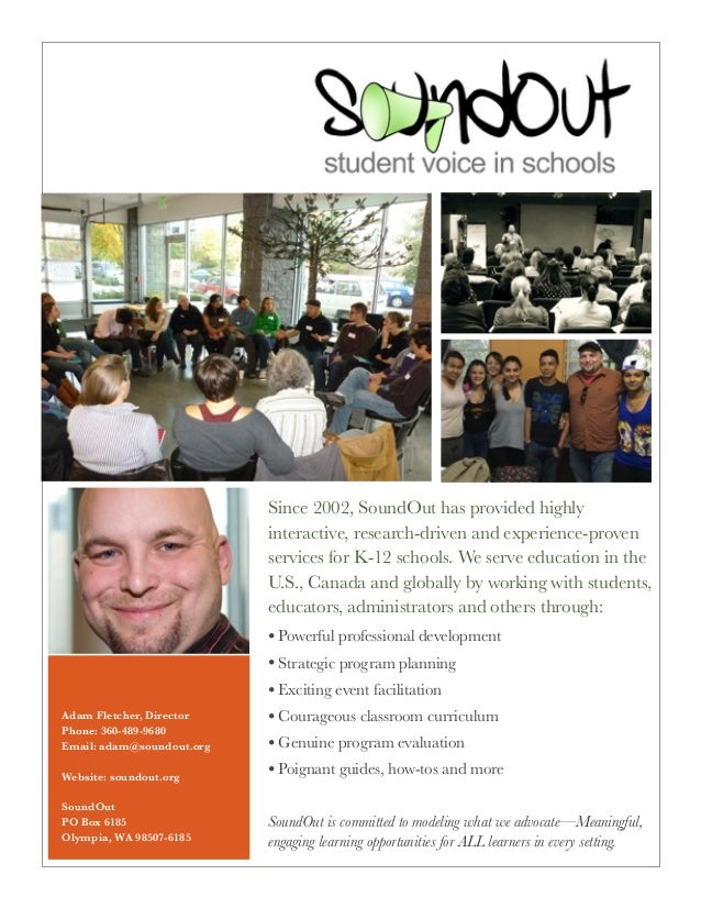 Since 2002, SoundOut has provided highly interactive, research-driven and experience-proven services for K-12 schools. We ...