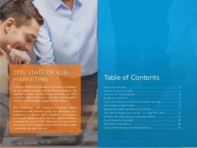 2015 State of B2B Marketing Slide 2