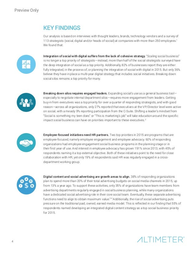 4 KEY FINDINGS Our analysis is based on interviews with thought leaders, brands, technology vendors and a survey of 113 st...
