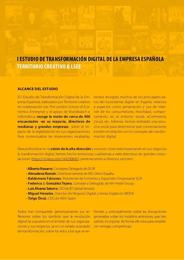 I Estudio Transformación Digital de la Empresa Española Slide 3