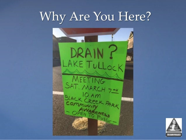 Tulloch Reservoir and the Drought of 2012-201? Slide 2