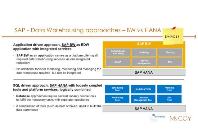 SAP - Data Warehousing approaches – BW vs HANA DMM215