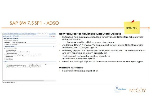 SAP BW 7.5 SP1 - ADSO DMM215